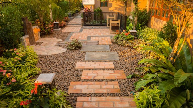 DIY Decorative Gravel Landscaping in Four Easy Steps